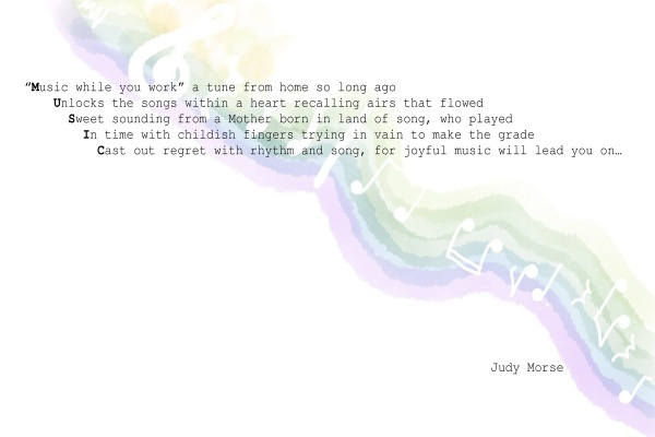 Poem by Judy Morse