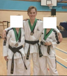 Young James pictured in Tae Kwon-Do uniform